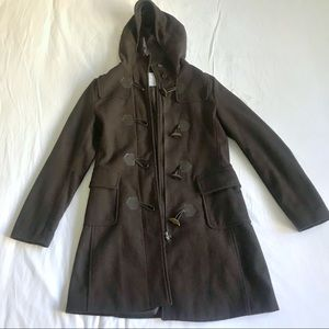 Brown Pea Coat with Hood